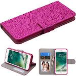 Apple iPhone 7 - Hot Pink Diamante MyJacket Wallet