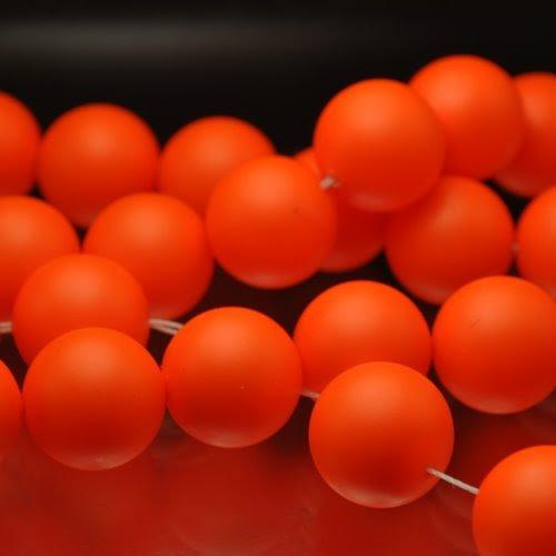 "s33101 Swarovski Pearl - 14 mm Round Pearl (5811) - Neon Orange Pearl (5) - <font color=""#FF0000"">Discontinued</font> - 60% off!"