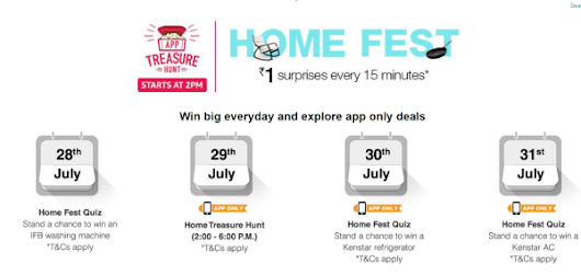 Amazon Treasure Hunt Solutions : 1 Rs Sale, 8 sep [ Electronic Mela , Every 30 Minutes ]