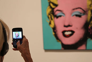 'Turquoise Marilyn', de Andy Warhol. | AFP