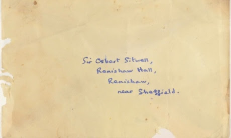 Dylan Thomas's unsent envelope addressed to Osbert Sitwell