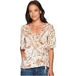 Lucky Brand Women's Floral Print Wrap Top
