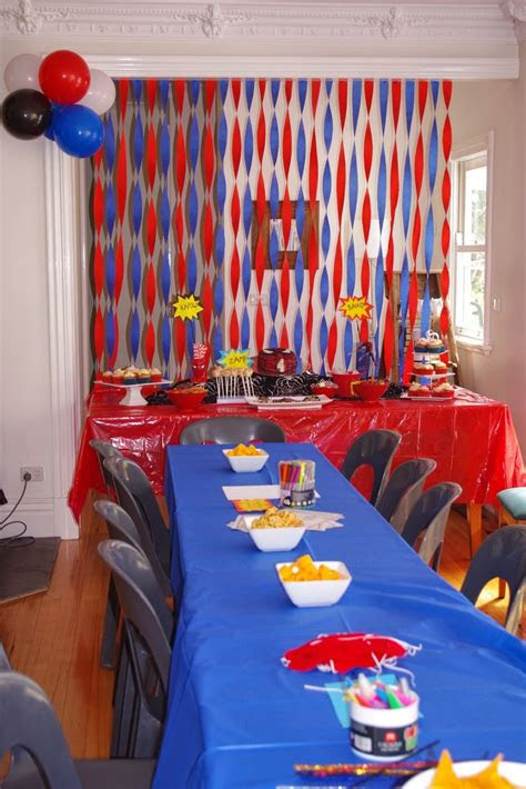 spiderman party   budget birthday party ideas