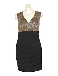 Black And Gold Party Dress by Ruby Rox