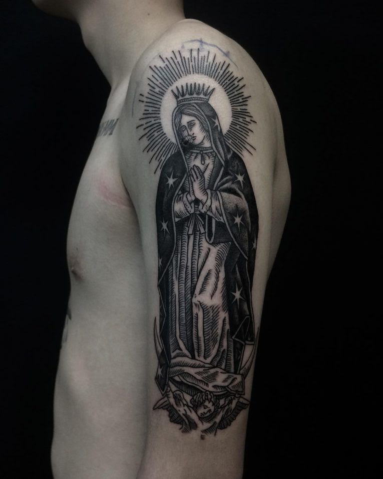 75+ Best Spiritual Virgin Mary Tattoo - Designs & Meanings
