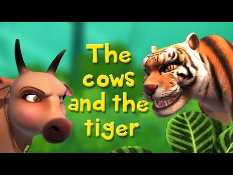 Fluency In English: The Cows and the Tiger | Stories for Kids
