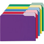 Universal - Square cut folder - Letter - tabbed - assorted colors (pack of 100)