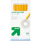 Essentials No. 2 Yellow Pencils - 24 count