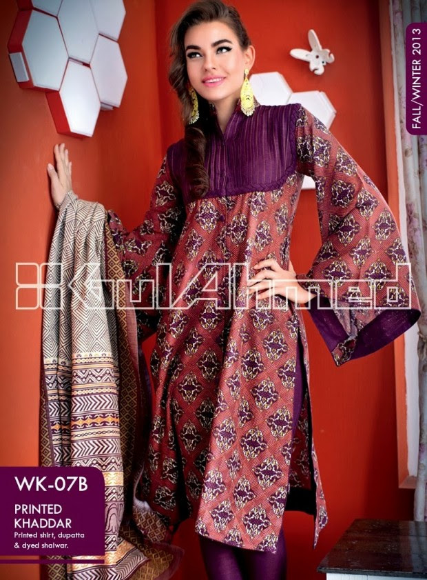 Beautiful-Cute-Girls-New-Fashionable-Dress-Design-by-Gul-Ahmed-Fall-Winter-Collection-2013-14-13