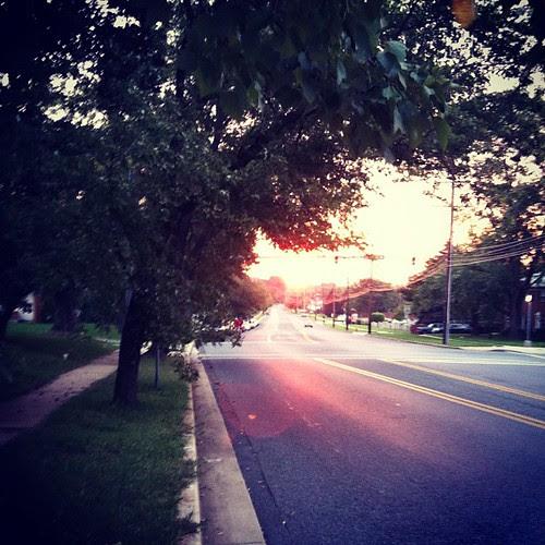 Sunrise on my morning run...