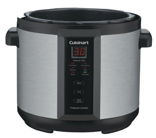 Cuisinart CPC-600 1000-Watt 6-Quart Electric Pressure Cooker, Brushed Stainless