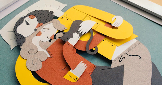 Family Portraits Illustrated with Paper by Jotaká
