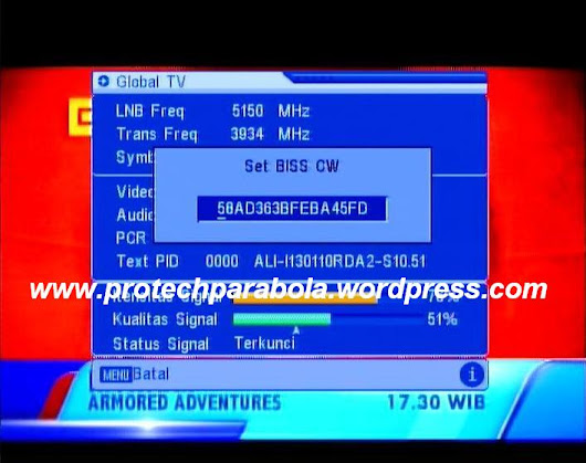 Cara isi Biss Key Receiver Mpeg 2