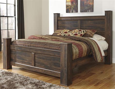 signature design  ashley quinden rustic king poster bed