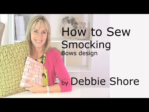 Smocking techniques, bows. A video tutorial.