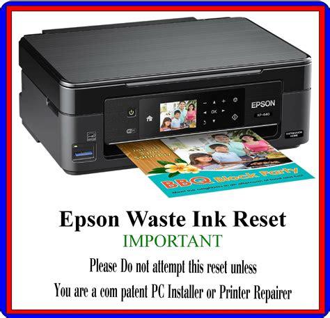 reset waste ink pad series epson    xp
