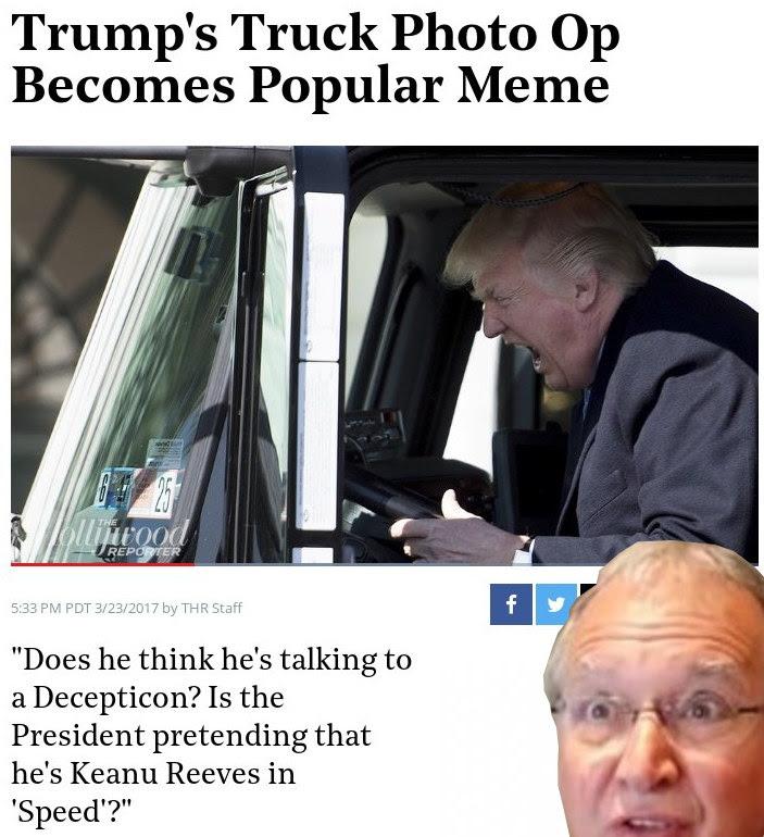 Trump's Truck Photo Op Becomes Popular Meme