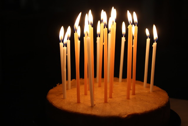 candles + cake