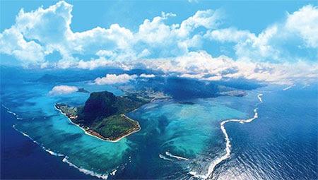 cachoeira submarina das Ilhas Maurício