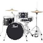 Pearl Roadshow 4-Piece Jazz Drum Set - Jet Black