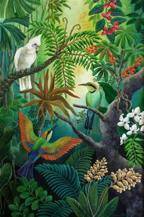high   branches henry rousseau   jungle art
