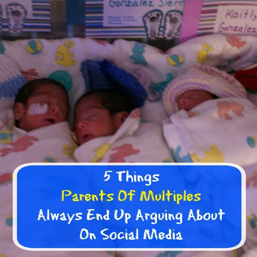 5 Things Parents Of Multiples Always End Up Arguing About On Social Media - 24/7 Modern Mom™