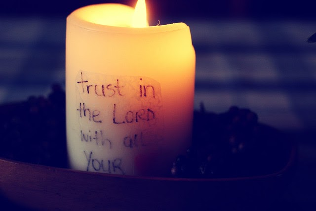 { So cold, and needing to trust in the Lord..... }