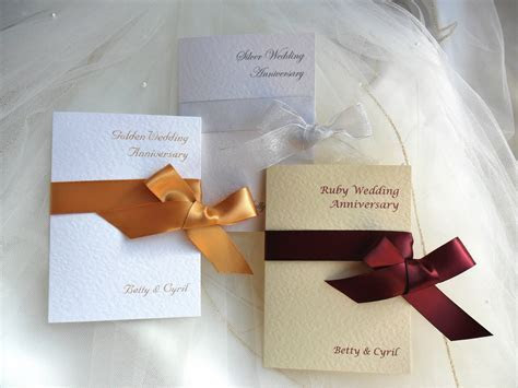 Wrap Ribbon Wedding Anniversary Invitations £1.25   Ruby