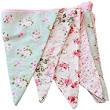 West5Products English Vintage Floral Design Party Bunting (3 meters): : Kitchen & Home
