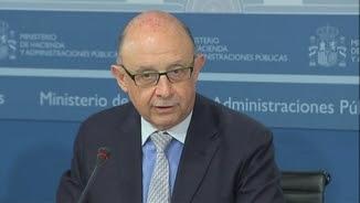 Cristóbal Montoro, aquest dijous, presentant el FLA del tercer trimestre