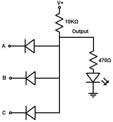 Circuit Diagram Of And Gate Using Diodes ~ DIAGRAM