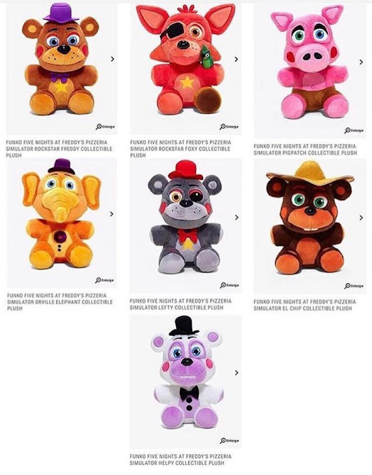 r/fivenightsatfreddys - I found the Fnaf 6 plushies on HotTopics website