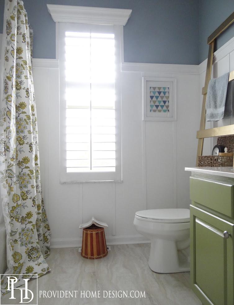 Kids Bathroom Blue and Green