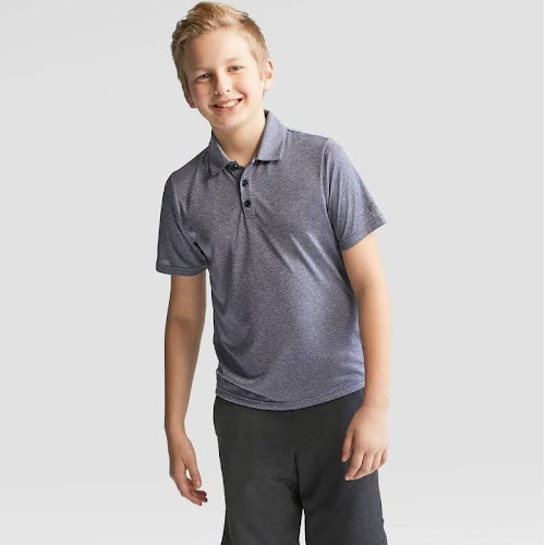 1c05f9028 Boys  Stripe Golf Polo Shirt - C9 Champion Heather Blue S - Google ...