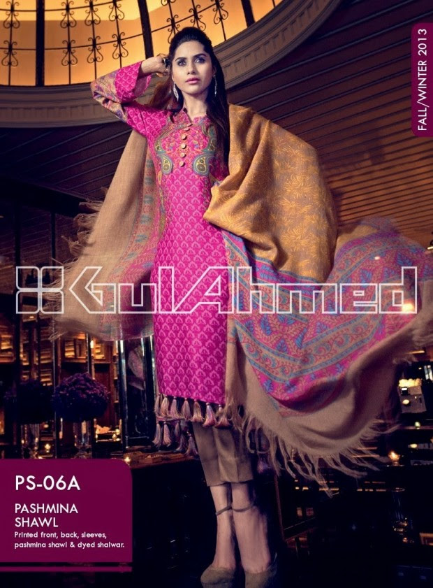 Beautiful-Cute-Girls-New-Fashionable-Dress-Design-by-Gul-Ahmed-Fall-Winter-Collection-2013-14-15