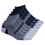 Puma Men's 8-pair No Show Sock, Multi, Extended