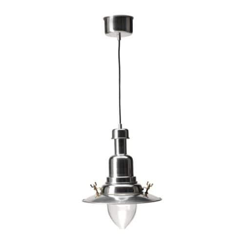 OTTAVA Lampada a sospensione IKEA Ogni paralume in vetro soffiato a bocca è unico. Puoi usarla sopra il tavolo poiché diffonde una luce diretta.