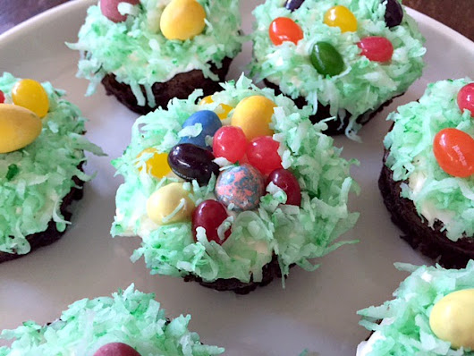 Easter Egg Nest Brownies