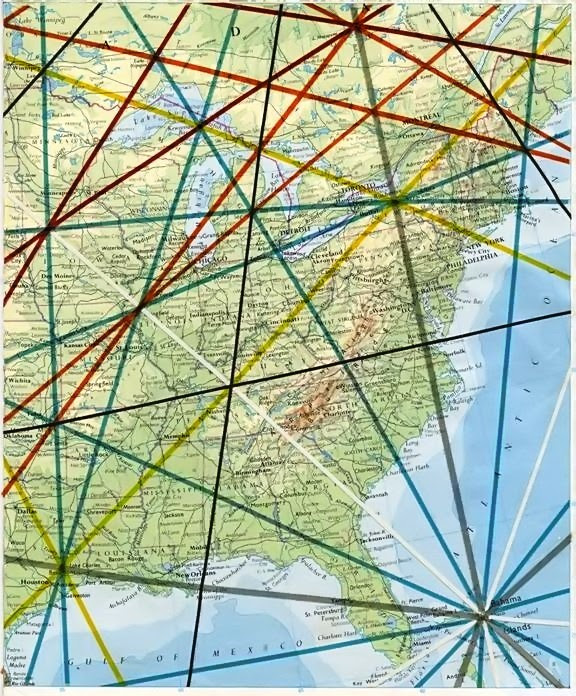 Ohio Ley Lines : lines, Tourist, English:, Lines