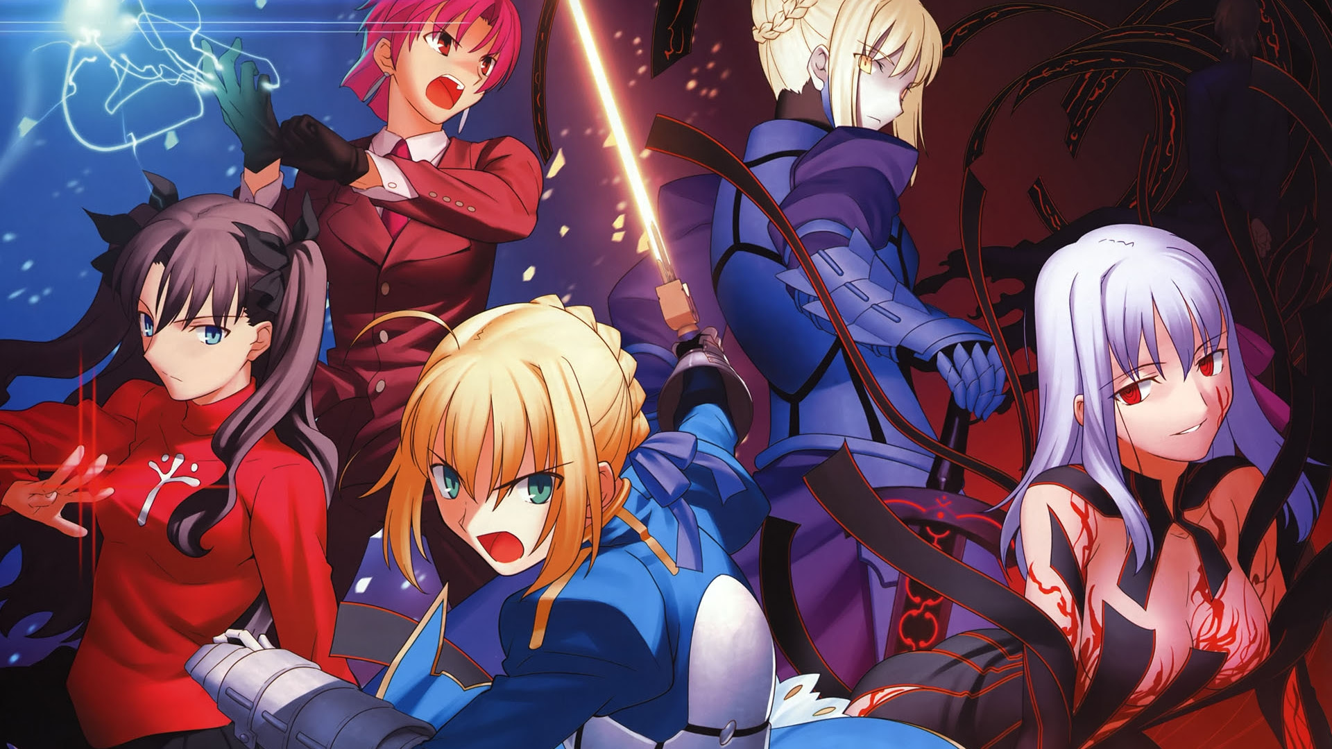 Blondes Fatestay Night Tie Weapons Armor Saber Swords 1920x1080