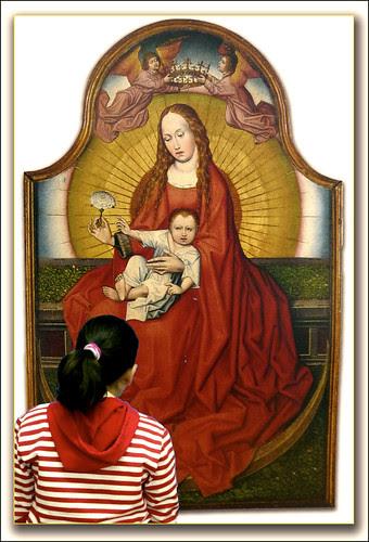 Virgen con el Niño de la Flor de Robert Campin