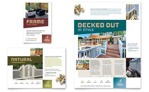 Decks & Fencing Flyer & Ad Template   Word & Publisher