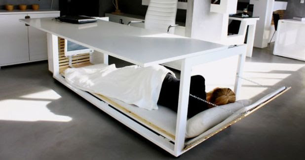 A Nap Desk To Offer You A Quick Nap At Work Place