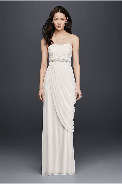 White by Vera Wang High Neck Halter Wedding Dress   Davids