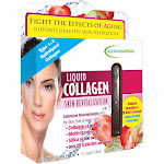 Applied Nutrition Skin Revitalization, Liquid Collagen, Liquid-Tubes, Tropical Strawberry & Kiwi Flavored - 10 tubes, 3.35 fl oz