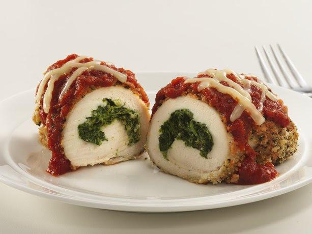 Healthified Stuffed Chicken Parmesan