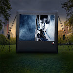 Aish Outdoor Movies Professional Screen 13 ft AI1097411