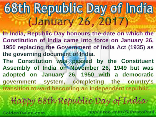 68th Republic Day of India 2017 | GoldenTwine Informatics Blog