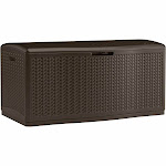 Suncast Capacity Mocha Herringbone Pattern Deck box