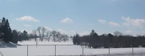 Golf Course under Snow